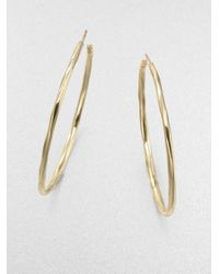 Ippolita | Metallic Glamazon 18k Yellow Gold #4 Hoop Earrings/2.3 | Lyst
