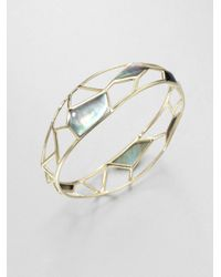 Ippolita | Gray 18k Gold Deco Bangle Bracelet | Lyst