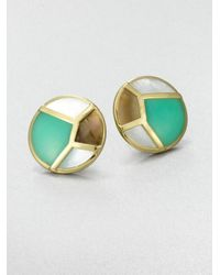 Ippolita | Multicolor Chrysoprase, Mother-of-pearl And Brown Shell Earrings | Lyst