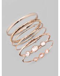 Ippolita | Metallic Rose Diamond Bangle Bracelet | Lyst