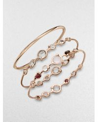 Ippolita - Metallic Rose Double Tiara Clear Quartz Bangle Bracelet - Lyst