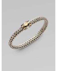 John Hardy | Metallic Dot 18k Yellow Gold & Sterling Silver Chain Bracelet | Lyst
