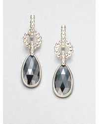 John Hardy - Gray Hematite and Sterling Silver Drop Earrings - Lyst