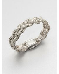 John Hardy | Metallic Classic Chain Sterling Silver Medium Braided Bracelet | Lyst
