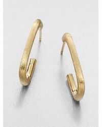 Marco Bicego | Metallic Murano 18k Yellow Gold J-hoop Earrings | Lyst