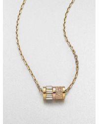 Michael Kors - Metallic Barrel Pendant Necklace - Lyst