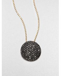 Phillips House | 14K Yellow Gold & Black Diamomds Infinity Pendant Necklace | Lyst