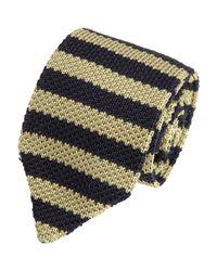 Rag & Bone - Black Balanced Stripe Knit Tie for Men - Lyst