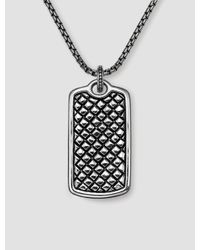Scott Kay | Metallic Equestrian Dog Tag for Men | Lyst