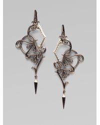 Stephen Webster | Metallic Blackened Sterling Silver Shark Jaw Earrings | Lyst