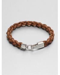 Tateossian | Brown Silver Lobster Mykonos Bracelet for Men | Lyst