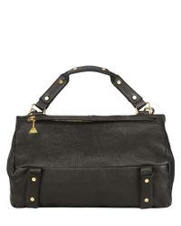 Golden Lane - Black Large Washed Leather Duo Satchel - Lyst