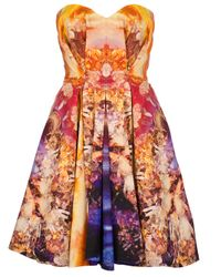 McQ | Multicolor Strapless Bustier Dress | Lyst