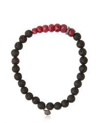 Ocnarf Sairutsa | Red Ruby Diamond and Lava Bracelet for Men | Lyst