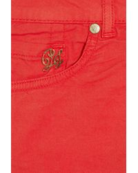 Paul & Joe | Red Stretch-Cotton Twill Shorts | Lyst