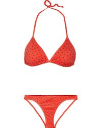 Paul & Joe | Red Bath Star-Print Triangle Bikini | Lyst