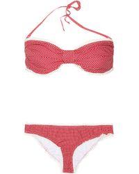 paul joe la baule polka dot cotton bikini in red lyst. Black Bedroom Furniture Sets. Home Design Ideas