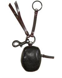 Dolce & Gabbana - Black Mini Leather Coppola Charm Key Holder for Men - Lyst