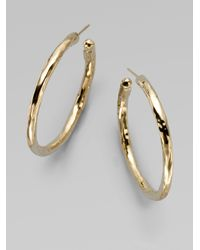 Ippolita | Metallic Glamazon 18k Yellow Gold #3 Hoop Earrings/1.5 | Lyst