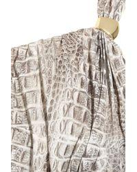 Melissa Odabash - Gray Savannah One-shoulder Jersey Maxi Dress - Lyst