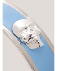 Alexander McQueen - Blue 3d Enamel Skull Bangle - Lyst