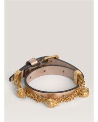 Alexander McQueen | Metallic Double Wrap Chain Bracelet | Lyst