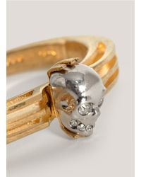 Alexander McQueen | Metallic Art-deco Skull Bangle | Lyst