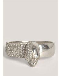 Alexander McQueen | Metallic Two-faced Skull Cuff Bracelet | Lyst