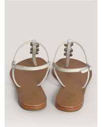 Ash | White Marcel Skull Thong Sandals | Lyst