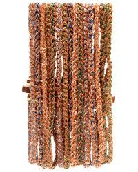 Carolina Bucci - Metallic Lucky 15 Strand Gold and Silk Cuff - Lyst