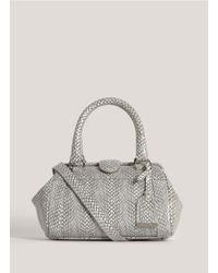 Cole Haan - Gray Anne Mini Frame Satchel - Lyst