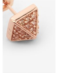 Eddie Borgo - Pink Pyramid Stud Earrings - Lyst
