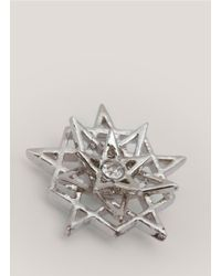 Eddie Borgo - Metallic Pentagram Earrings - Lyst