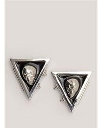 Eddie Borgo | Metallic Skull Enamel Collar Tips | Lyst