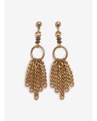 Ela Stone - Metallic Chain-tassel Earrings - Lyst