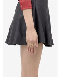 Ela Stone | Metallic Pointed Brass Stone Ring | Lyst