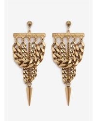 Ela Stone | Metallic Spike-drop Chain Earrings | Lyst