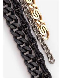 Ela Stone - Multicolor Long Multi-chain Earrings - Lyst