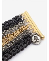 Ela Stone - Black Mix Metal Chain Bracelet - Lyst