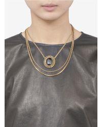 Ela Stone - Multicolor Multi Brass Chain Pendant Necklace - Lyst