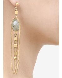 Ela Stone - Metallic Faceted-stone Chain Earrings - Lyst
