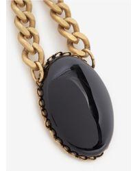Ela Stone | Black Stone Drop Earrings | Lyst