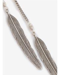 Ela Stone - Metallic Leaves Chain Earrings - Lyst
