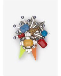 Erickson Beamon | Multicolor Nexus Brooch | Lyst