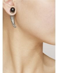 Givenchy - Metallic Crystal-embedded Shark Magnetic Earring - Lyst