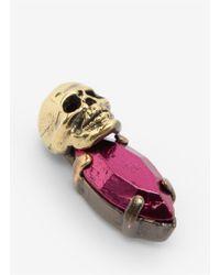 Iosselliani - Pink Skull Bronzed-stone Earrings - Lyst