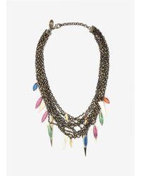 Iosselliani - Multicolor Multi-chain Stones Necklace - Lyst