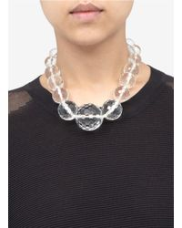 Kenneth Jay Lane - White Large Clear Bead Necklace - Lyst