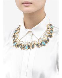 Lele Sadoughi | Metallic Lotus Necklace | Lyst