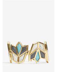 Lele Sadoughi - Multicolor Lotus Bracelet - Lyst